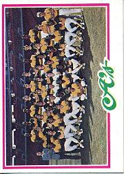 1978 Topps #577 Oakland Athletics CL
