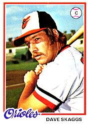 1978 Topps #593 Dave Skaggs RC