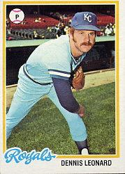 1978 Topps #665 Dennis Leonard