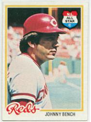 1978 Topps #700 Johnny Bench