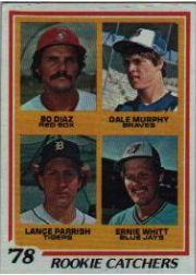 1978 Topps #708 Rookie Catchers/Bo Diaz RC/Dale Murphy/Lance Parrish RC/Ernie Whitt RC
