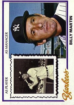 1978 Topps #721 Billy Martin MG