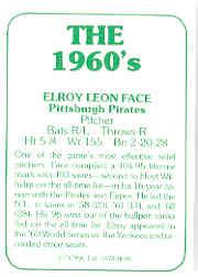 1978 TCMA 60'S I #5 Roy Face back image