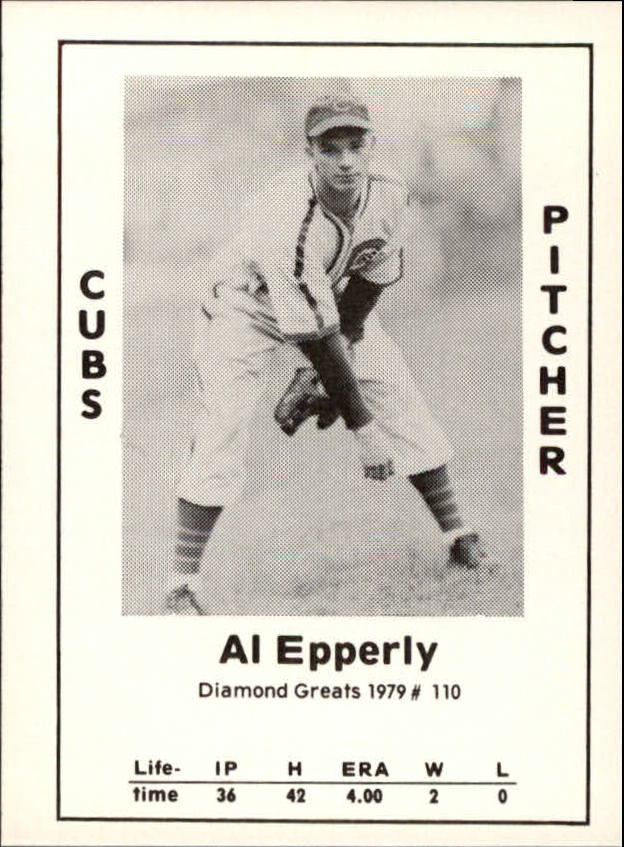 1979 Diamond Greats #110 Al Epperly
