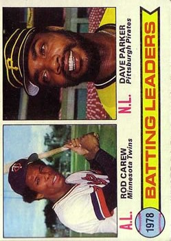 1979 Topps #1 Batting Leaders/Rod Carew/Dave Parker