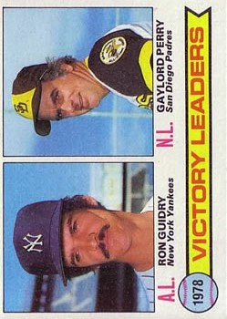 1979 Topps #5 Victory Leaders/Ron Guidry/Gaylord Perry