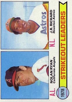 1979 Topps #6 Strikeout Leaders/Nolan Ryan/J.R. Richard front image