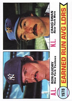 1979 Topps #7 ERA Leaders/Ron Guidry/Craig Swan