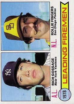 1979 Topps #8 Leading Firemen/Rich Gossage/Rollie Fingers