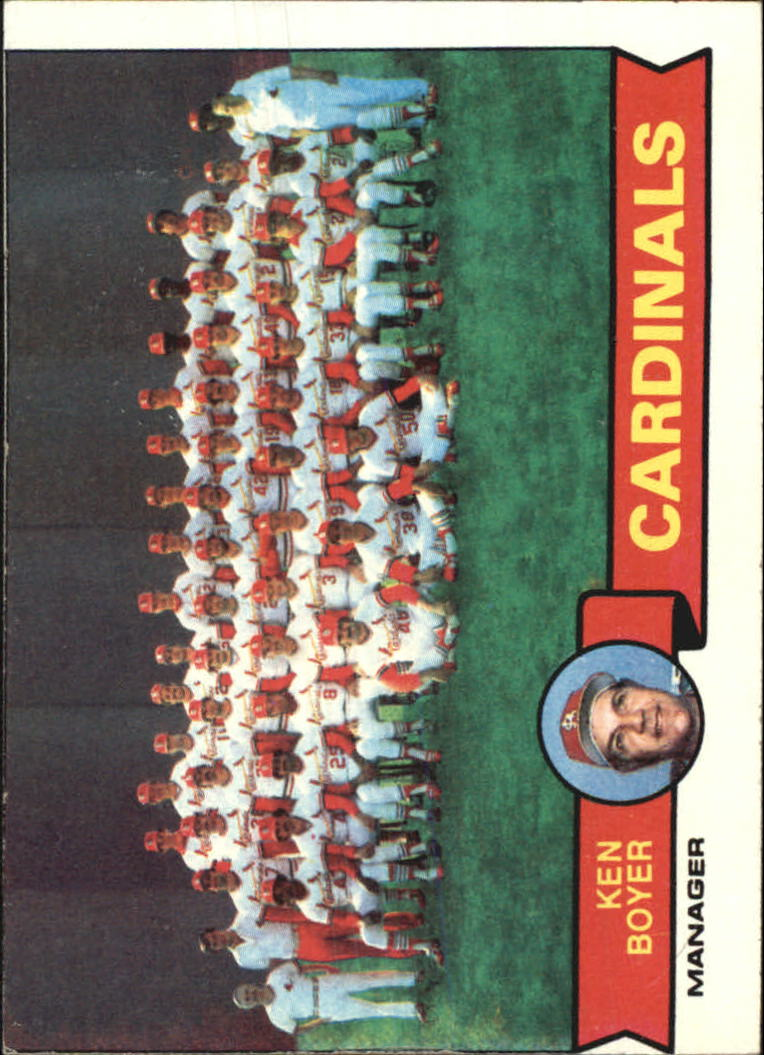 1979 Topps #192 St. Louis Cardinals CL/Ken Boyer MG front image