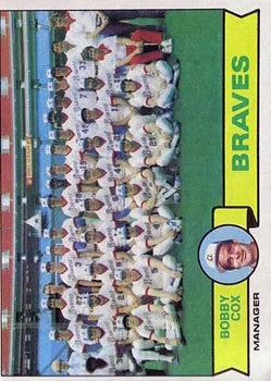 1979 Topps #302 Atlanta Braves CL/Bobby Cox MG