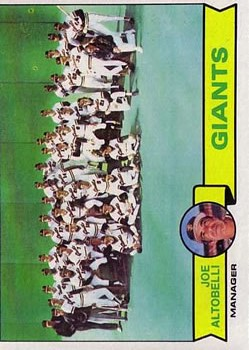 1979 Topps #356 San Francisco Giants CL/Joe Altobelli MG