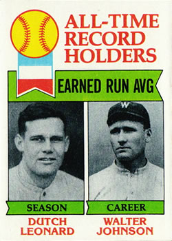 1979 Topps #418 Dutch Leonard ATL DP/Walter Johnson