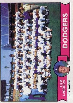 1979 Topps #526 Los Angeles Dodgers CL/Tom Lasorda MG