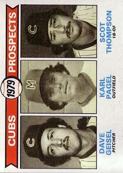 1979 Topps #716 Dave Geisel RC/Karl Pagel RC/Scot Thompson RC