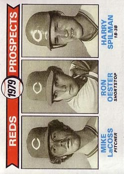 1979 Topps #717 Mike LaCoss RC/Ron Oester RC/Harry Spilman RC