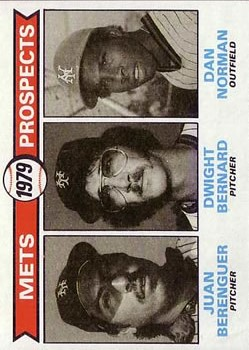1979 Topps #721 Juan Berenguer RC/Dwight Bernard RC/Dan Norman RC