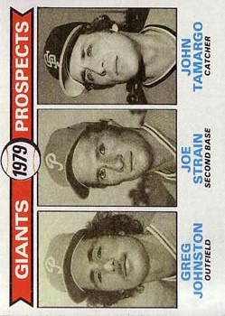 1979 Topps #726 Greg Johnston RC/Joe Strain RC/John Tamargo RC