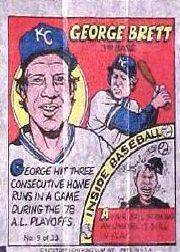 1979 Topps Comics #9 George Brett