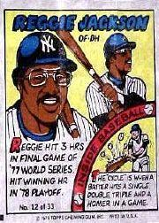 1979 Topps Comics #12 Reggie Jackson