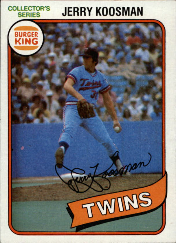 1980 Burger King Pitch/Hit/Run #5 Jerry Koosman *