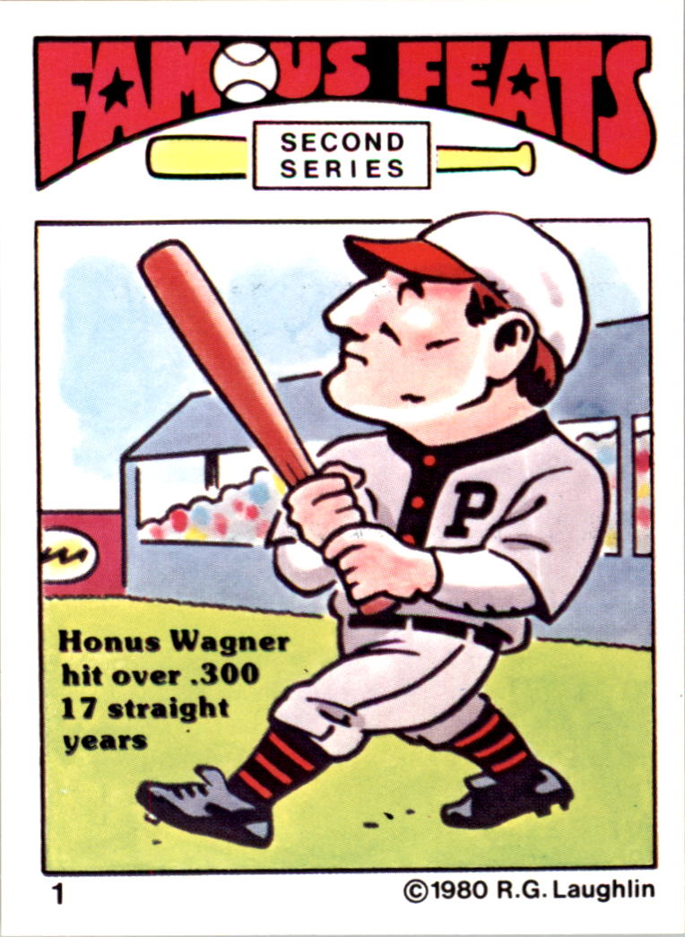 1980 Laughlin Famous Feats #1 Honus Wagner