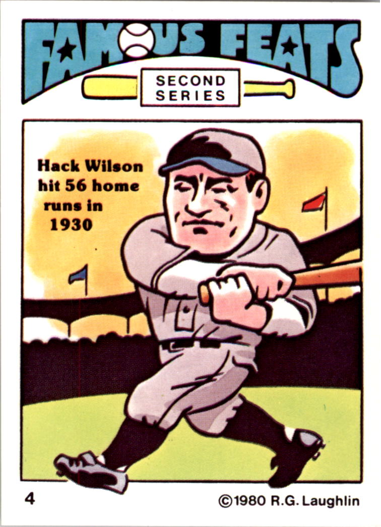 1980 Laughlin Famous Feats #4 Hack Wilson