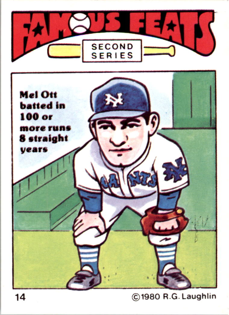 1980 Laughlin Famous Feats #14 Mel Ott