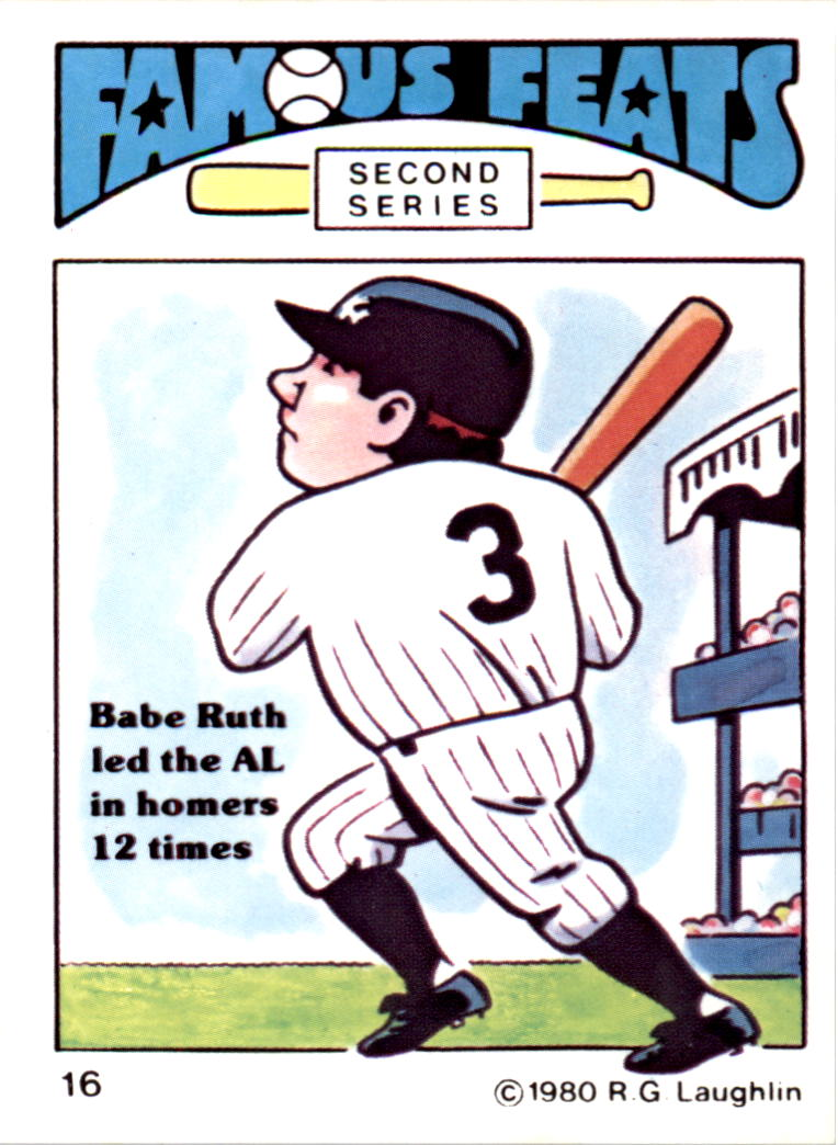 1980 Laughlin Famous Feats #16 Babe Ruth
