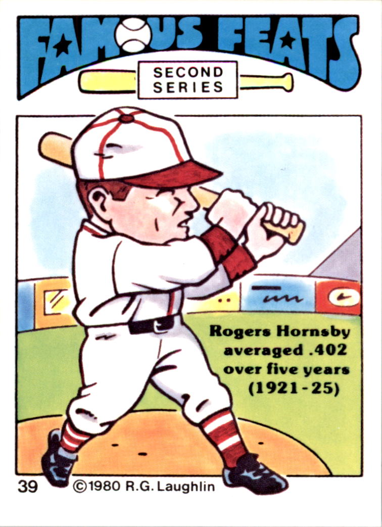 1980 Laughlin Famous Feats #39 Rogers Hornsby