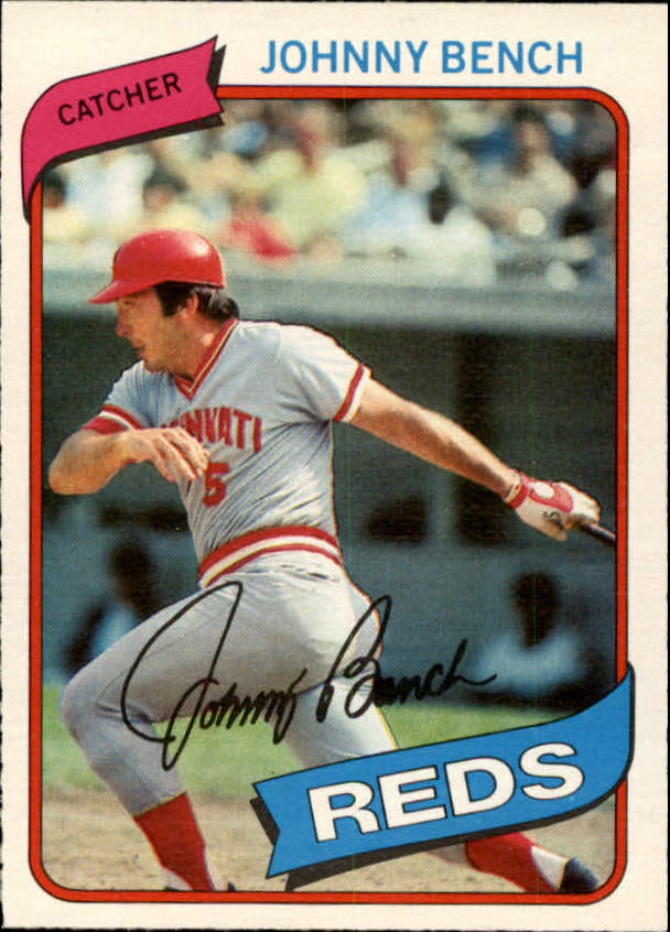 1980 O-Pee-Chee #55 Johnny Bench