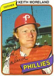 1980 Phillies Burger King #3 Keith Moreland *