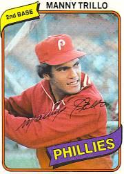 1980 Phillies Burger King #5 Manny Trillo
