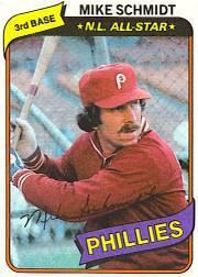 1980 Phillies Burger King #6 Mike Schmidt