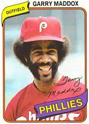 1980 Phillies Burger King #10 Garry Maddox