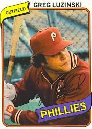 1980 Phillies Burger King #11 Greg Luzinski