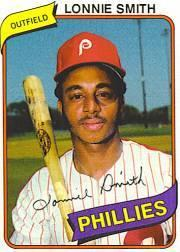 1980 Phillies Burger King #14 Lonnie Smith *