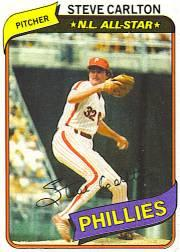1980 Phillies Burger King #15 Steve Carlton