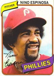 1980 Phillies Burger King #17 Nino Espinosa