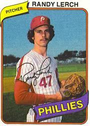 1980 Phillies Burger King #18 Randy Lerch