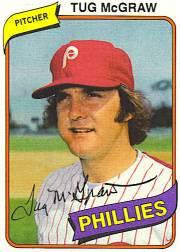 1980 Phillies Burger King #20 Tug McGraw