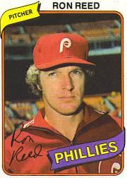 1980 Phillies Burger King #21 Ron Reed
