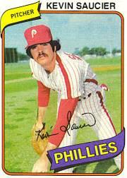 1980 Phillies Burger King #22 Kevin Saucier *