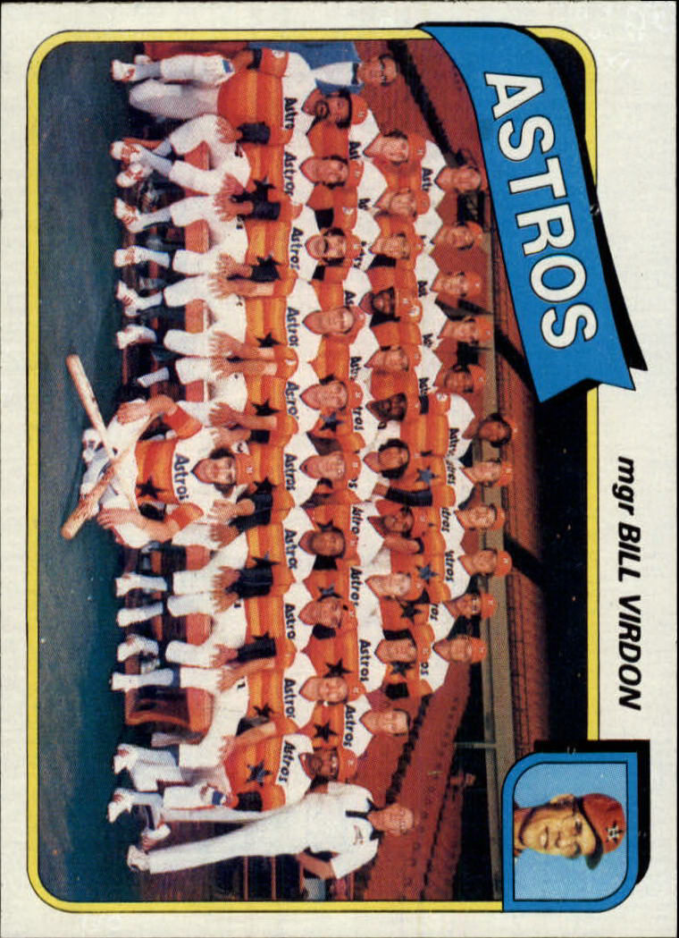 1980 Topps #82 Houston Astros CL/Bill Virdon MG