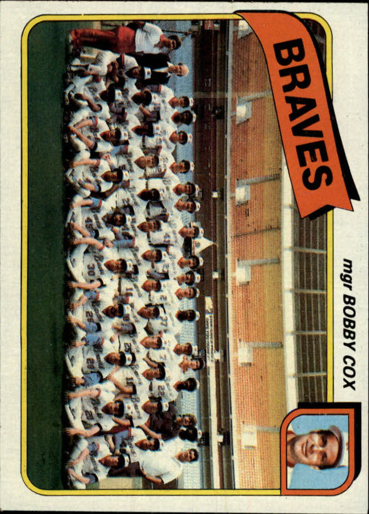 1980 Topps #192 Atlanta Braves CL/Bobby Cox MG