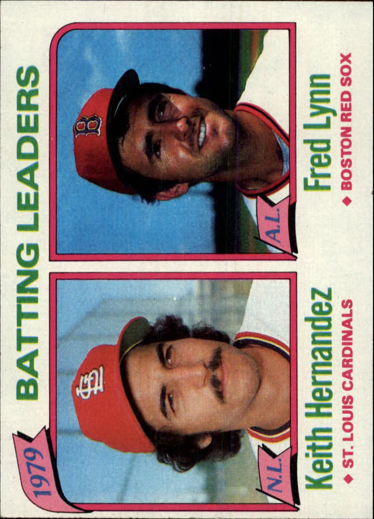 1980 Topps #201 Batting Leaders/Keith Hernandez/Fred Lynn