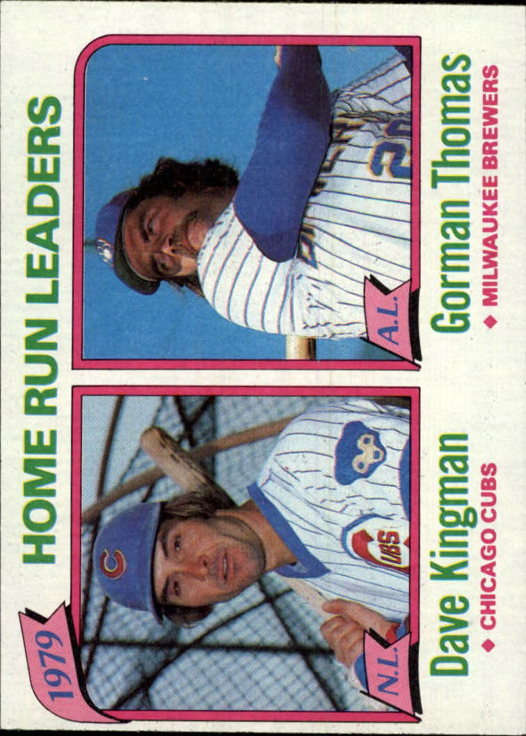 1980 Topps #202 Home Run Leaders/Dave Kingman/Gorman Thomas