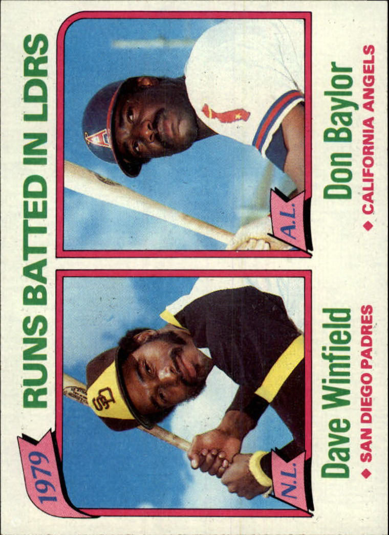 1980 Topps #203 RBI Leaders/Dave Winfield/Don Baylor