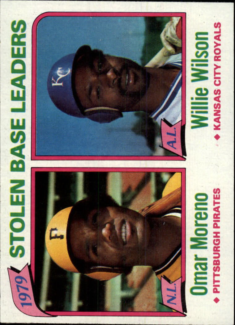 1980 Topps #204 Stolen Base Leaders/Omar Moreno/Willie Wilson