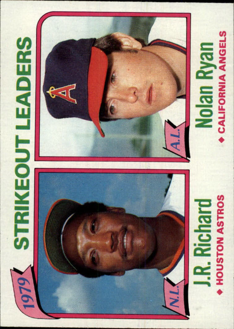 1980 Topps #206 Strikeout Leaders/J.R. Richard/Nolan Ryan